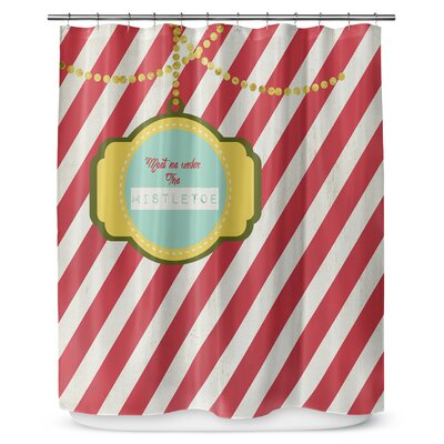 Under The Mistletoe 90 Shower Curtain