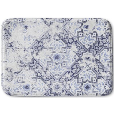 Esther Memory Foam Bath Rug Size: 17 W x 24 L, Color: Blue