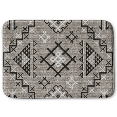 Cyrill Memory Foam Bath Rug Size: 17 W x 24 L, Color: Beige/ Black
