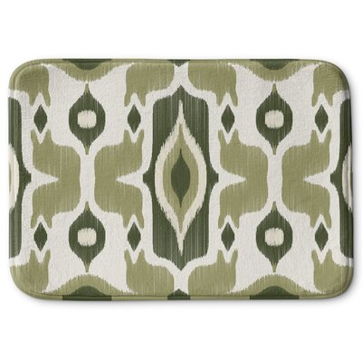 Cosmos Memory Foam Bath Rug Size: 24 W x 36 L, Color: Green