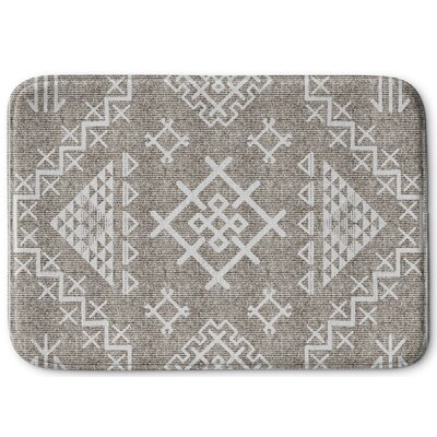 Cyrill Memory Foam Bath Rug Size: 24 W x 36 L, Color: Beige/ White