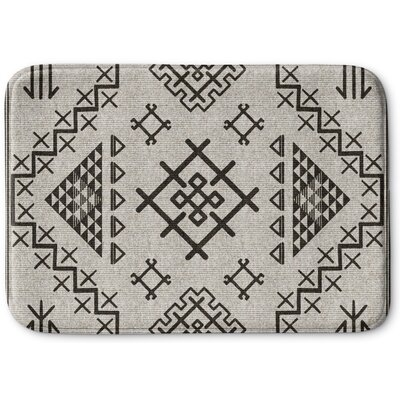 Cyrill Memory Foam Bath Rug Size: 24 W x 36 L, Color: Beige/ Grey