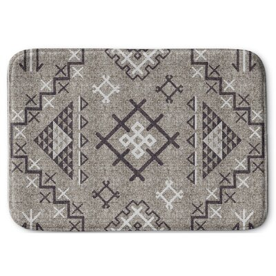 Cyrill Memory Foam Bath Rug Size: 24 W x 36 L, Color: Beige/ Brown