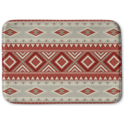 Cabarley Bath Rug Color: Red, Size: 17 W x 24 L