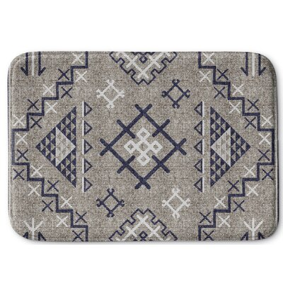 Cyrill Memory Foam Bath Rug Size: 24 W x 36 L, Color: Beige/ Blue