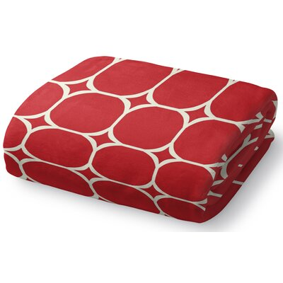 Holiday Ogee Fleece Throw Blanket Size: 50 W x 60 L