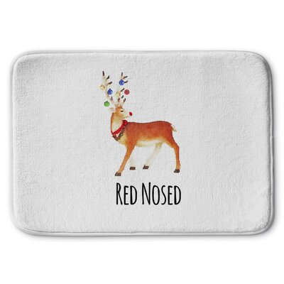 Red Nosed Memory Foam Bath Rug Size: 17 W x 24 L