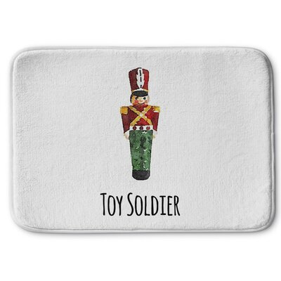 Toy Soldier Memory Foam Bath Rug Size: 17 W x 24 L