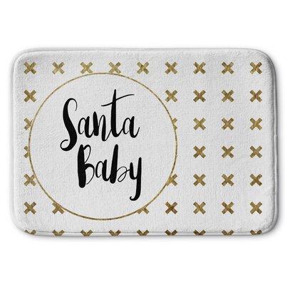 Santa Baby Memory Foam Bath Rug Size: 17 W x 24 L