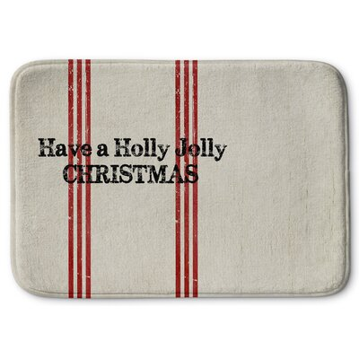 Holly Jolly Christmas Memory Foam Bath Rug Size: 24 W x 36 L