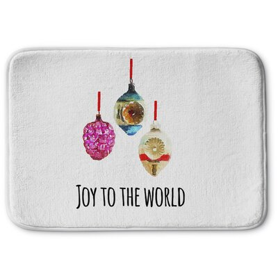 Joy To The World Memory Foam Bath Rug Size: 17 W x 24 L