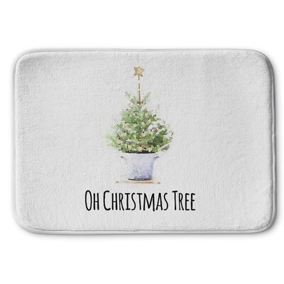 Oh Christmas Tree Memory Foam Bath Rug Size: 17 W x 24 L