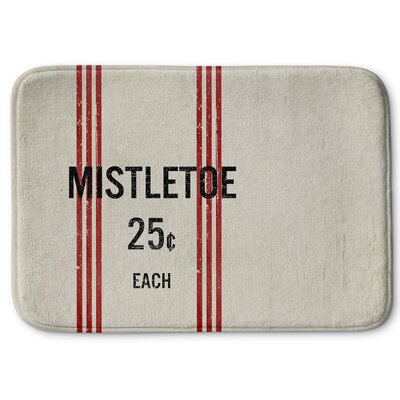 Mistletoe Memory Foam Bath Rug Size: 24 W x 36 L