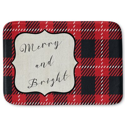 Merry and Bright Memory Foam Bath Rug Size: 17 W x 24 L