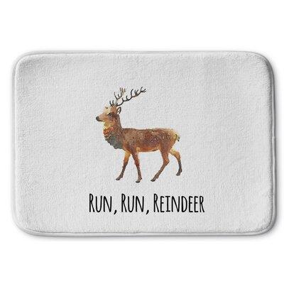 Run Run Reindeer Memory Foam Bath Rug Size: 24 W x 36 L