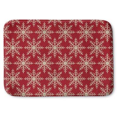 Snow Flakes Memory Foam Bath Rug Size: 24 W x 36 L