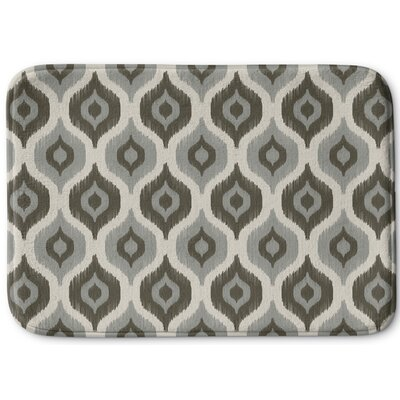 Underhill Rectangle Memory Foam Bath Rug Size: 17 W x 24 L, Color: Gray