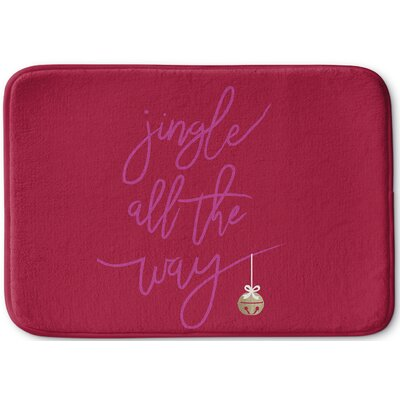 Jingle Memory Foam Bath Rug Size: 17 W x 24 L, Color: Pink