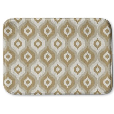 Underhill Rectangle Memory Foam Bath Rug Size: 17 W x 24 L, Color: Tan