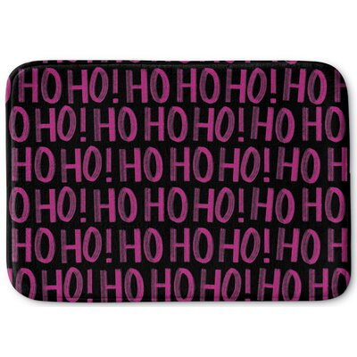 Hohoho Memory Foam Bath Rug Color: Black, Size: 24 W x 36 L