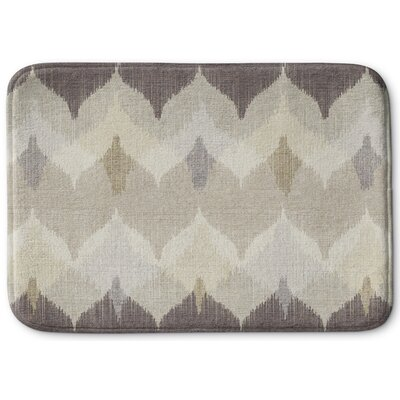 Chevron Motion Memory Foam Bath Rug Size: 17 W x 24 L
