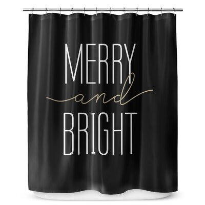 Merry and Bright 90'' Shower Curtain Color: White