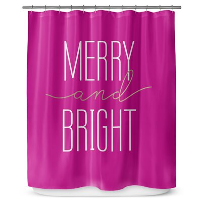 Merry and Bright 90 Shower Curtain Color: Light Blue