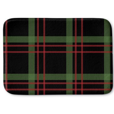 Christmas Plaid Memory Foam Bath Rug Size: 17 W x 24 L