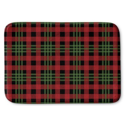 Christmas Plaid Memory Foam Bath Rug Size: 24 W x 36 L