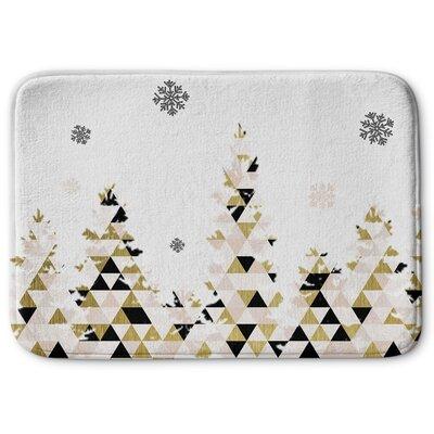 Christmas Snow Memory Foam Bath Rug Size: 17 W x 24 L