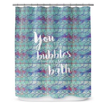 Bubbles 72 Shower Curtain Color: Aqua