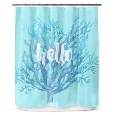 Hello 72 Shower Curtain
