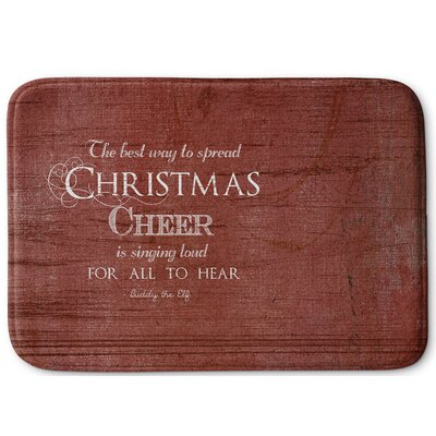 Christmas Cheer Memory Foam Bath Rug Size: 24 W x 36 L