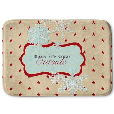 Baby Its Cold Outside Memory Foam Bath Rug Size: 24 W x 36 L