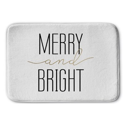 Merry and Bright Bath Rug Size: 17 W x 24 L, Color: Ivory