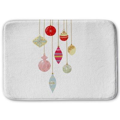 Christmas Bling Memory Foam Bath Rug Size: 17 W x 24 L