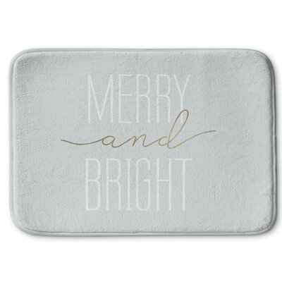 Merry and Bright Bath Rug Size: 17 W x 24 L, Color: Light Blue