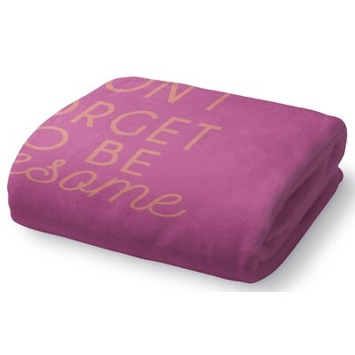 Brooklyn Fleece Throw Blanket Size: 90 W x 90 L