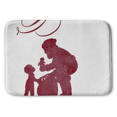 Santas Gift Memory Foam Bath Rug Size: 17 W x 24 L