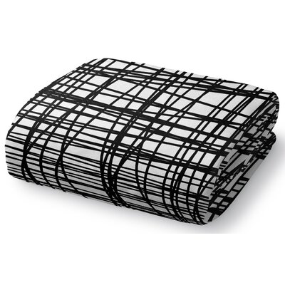 Lines Fleece Throw Blanket Size: 90 W x 90 L