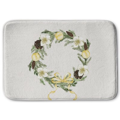 Christmas Reef Memory Foam Bath Rug Size: 24