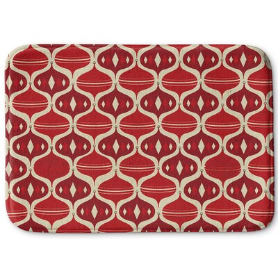 Holiday Ogee Memory Foam Bath Rug Size: 17 W x 24 L