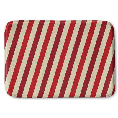 Stripes Memory Foam Bath Rug Size: 24 W x 36 L