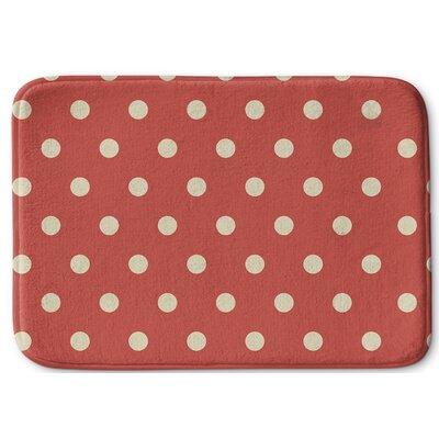 Dots Memory Foam Bath Rug Size: 17
