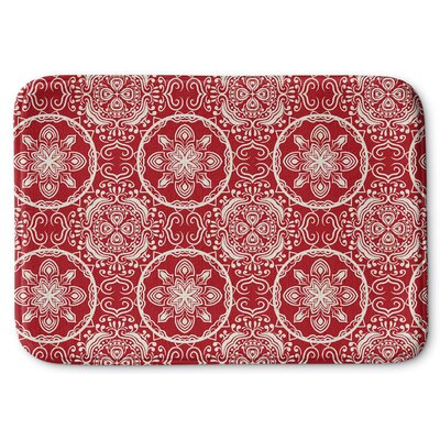 Christmas in Plaid Memory Foam Bath Rug Size: 24 W x 36 L