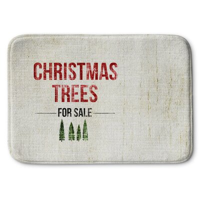 Christmas Tree for Sale Memory Foam Bath Rug Size: 24 W x 36 L