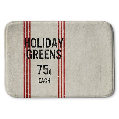 Holiday Greens Memory Foam Bath Rug Size: 17 W x 24 L