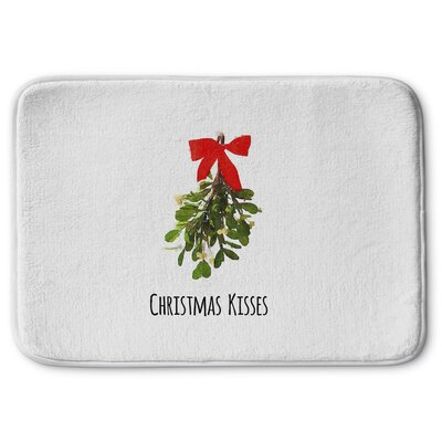 Christmas Kisses Memory Foam Bath Rug Size: 17 W x 24 L