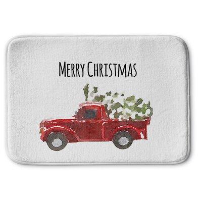 Christmas Truck Memory Foam Bath Rug Size: 24 W x 36 L