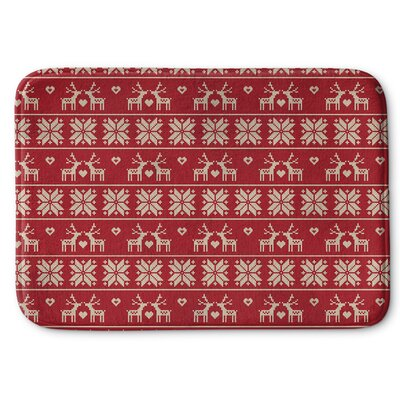 Christmas Love Memory Foam Bath Rug Size: 17 W x 24 L